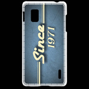 Coque LG Optimus G Since 1971 Bleu