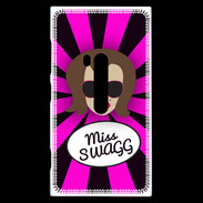 Coque Nokia Lumia 920 Miss Swag Chatain