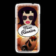 Coque Samsung Galaxy Express2 Miss Réunion Brune