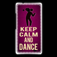 Coque Huawei Ascend Mate Keep Calm and Dance Rose