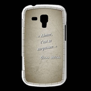 Coque Samsung Galaxy Trend Aimer Sepia Citation Oscar Wilde