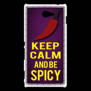 Coque Sony Xperia M2 Keep Calm and Be Spicy Violet