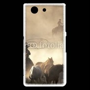 Coque Sony Xperia Z3 Compact Cowboys et chevaux