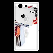 Coque Sony Xperia Z3 Compact Paire d'as au poker 5