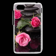 Coque Blackberry Q5 Rose et Galet Zen