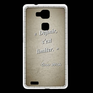 Coque Huawei Ascend Mate 7 Définir Sepia Citation Oscar Wilde