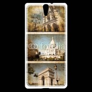 Coque Sony Xperia C5 Vintage Paris 6