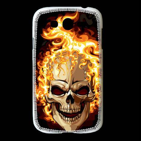 Coque Samsung Galaxy Grand Tête de mort en flamme 5