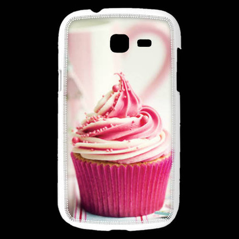 Coque samsung galaxy trend lite cup cake rose et blanc - Coque pour samsung galaxy trend lite blanc ...