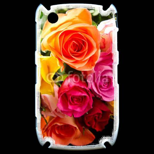 Coque Black Berry 8520 Bouquet de roses multicouleurs