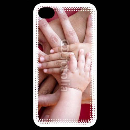 Coque iPhone 4 / iPhone 4S Famille main dans la main