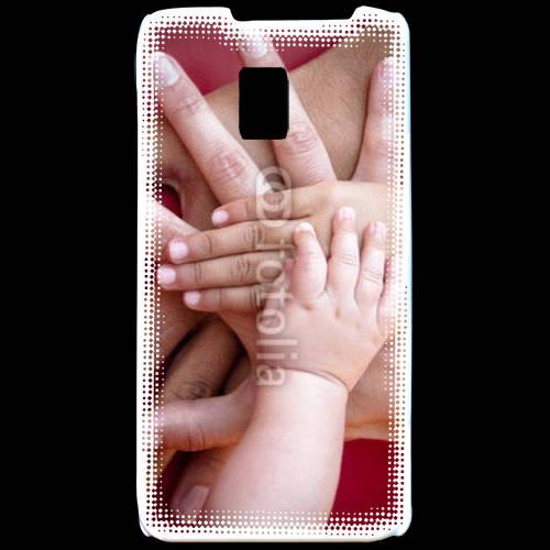 Coque LG P990 Famille main dans la main