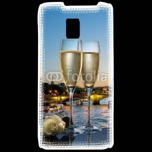 Coque LG P990 Amour au champagne