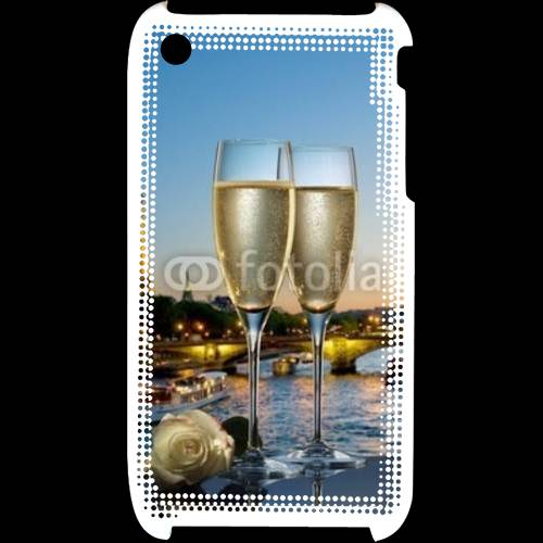 Coque iPhone 3G / 3GS Amour au champagne