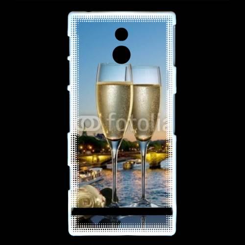 Coque Sony Xperia U Amour au champagne