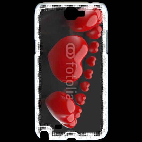 Coque Samsung Galaxy Note 2 Bracelet de coeur