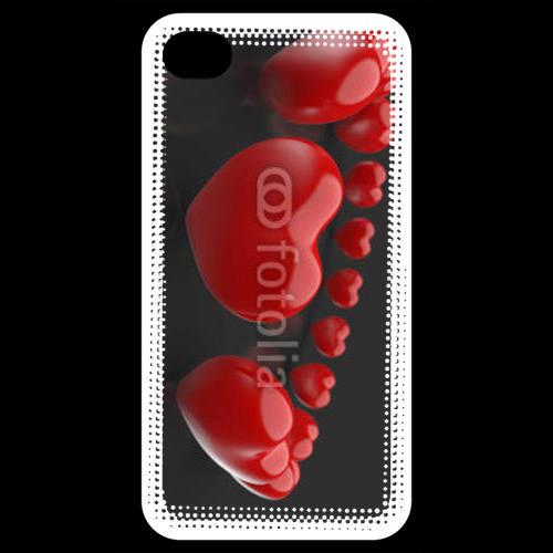 Coque iPhone 4 / iPhone 4S Bracelet de coeur
