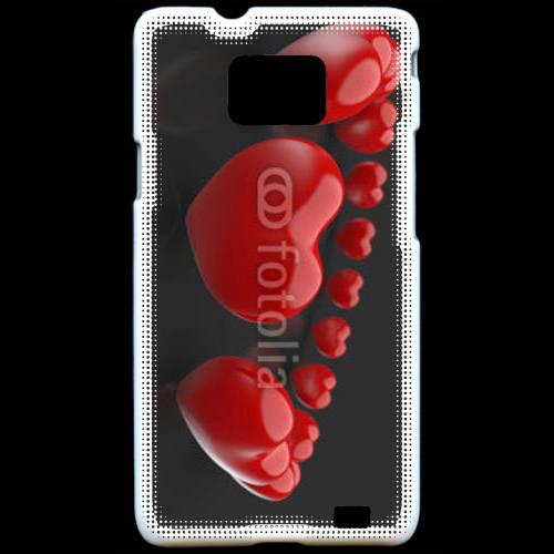Coque Samsung Galaxy S2 Bracelet de coeur