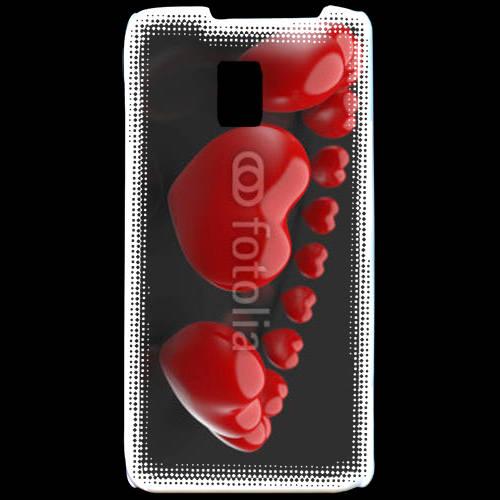 Coque LG P990 Bracelet de coeur