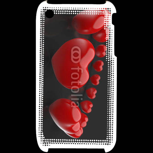 Coque iPhone 3G / 3GS Bracelet de coeur